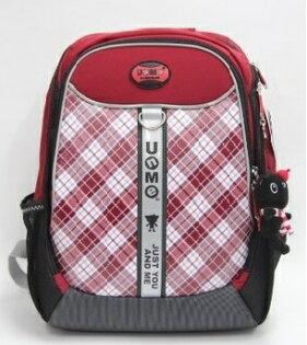 X射線 精緻禮品:X射線【C3248】UnMe多功能後背包書包(格紋.紅)3248台灣製造,開學必備護脊書包書包後背包背包便當盒袋書包雨衣補習袋輕量書包拉桿書包