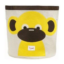 【淘氣寶寶】加拿大 3 Sprouts 收納籃-小猴子【超大容量摺疊好收納,100%棉帆布手感柔軟耐抗污】【 貨】
