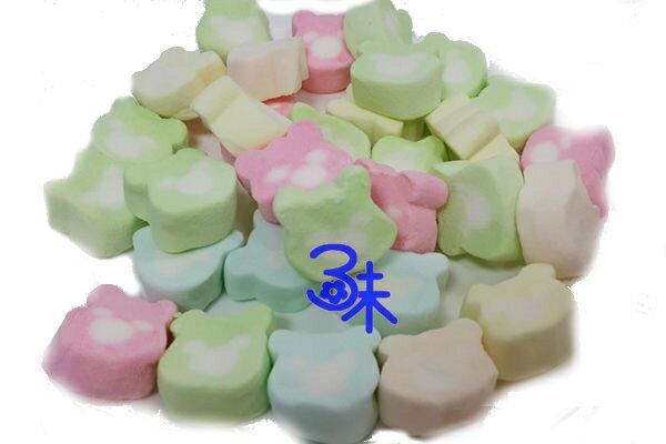 (菲律賓) 蜜意坊 造型棉花糖 (TO-50五彩熊) 1包1公斤 特價168元 (雪Q餅、雪花餅原料)