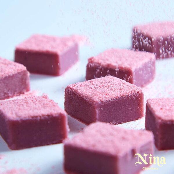 紫羅蘭莓果生巧克力