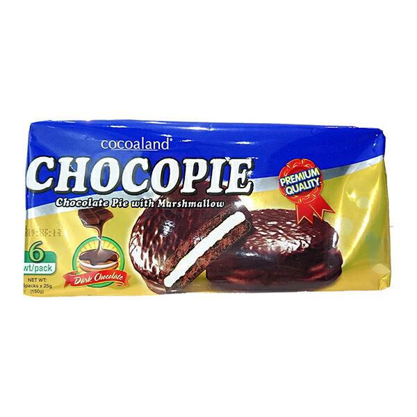 【草莓季、巧克力8折起】Cocoaland 黑巧克力風味派─150g (6入)