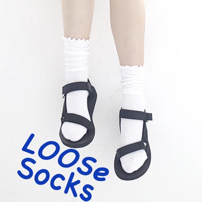 50%OFF SHOP【W018378SK】棉品軒日系襪子批發 復古森系木耳邊女襪 堆堆襪子 純棉中筒襪 - 限時優惠好康折扣