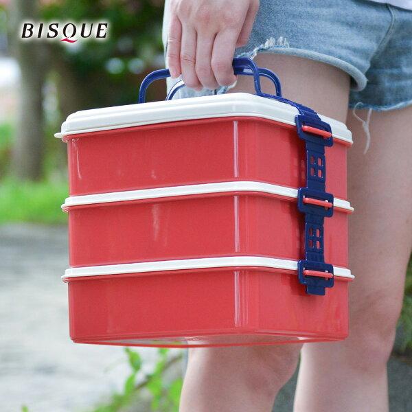 【日本BISQUE】3層野餐便當盒-L