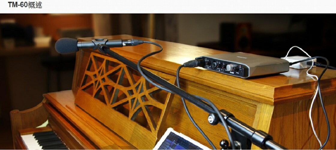 達斯冠 TASCAM TM-60 電容式麥克風 公司貨 網路 直播 樂器 錄音 MIC 支架 收音 音樂 吉他 鋼琴 2