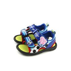 粉紅豬小妹 Peppa Pig 涼鞋 童鞋 魔鬼氈 藍色 小童 PG4500 no728