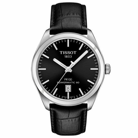 TISSOT天梭T1014071605100PR100Powermatic80經典機械腕錶-黑39mm