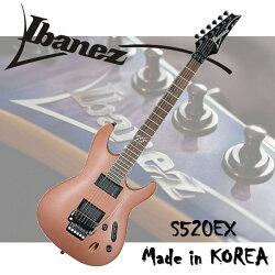 【非凡樂器】Ibanez 電吉他 S520EX S系列超薄琴身/原廠公司貨/霧光原木色