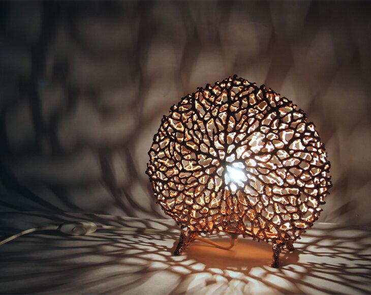 DeLife- 台灣錫製心型珊瑚投影燈- 玫瑰金 1