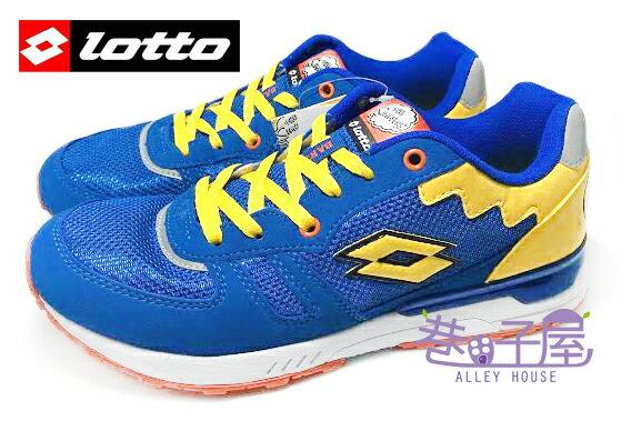 【巷子屋】義大利第一品牌-LOTTO樂得 SIMPSONS辛普森 男款復古風運動慢跑鞋 [2806] 藍 超值價$690