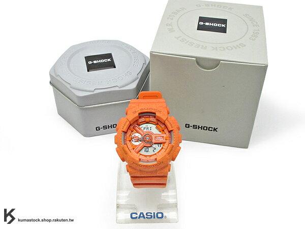[10%OFF] kumastock 2015 最新 46mm 錶徑 貼合女性手腕曲線 CASIO G-SHOCK GMA-S110HT-4ADR 橘色 針織紋 系列 S SERIES FOR LADIES 女孩專用 !