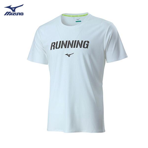 J2TA800601(白)熱遮蔽材質路跑短袖T恤【美津濃MIZUNO】