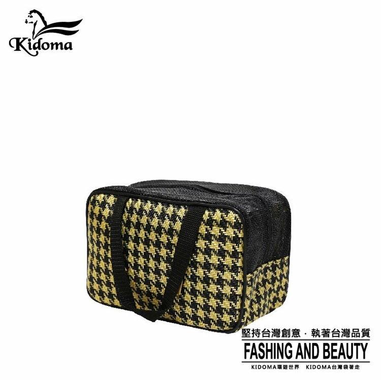 Kidoma餐袋系列-黑黃金千鳥 手提包 手提袋 編織包 購物袋 旅行組 台灣製造 防水