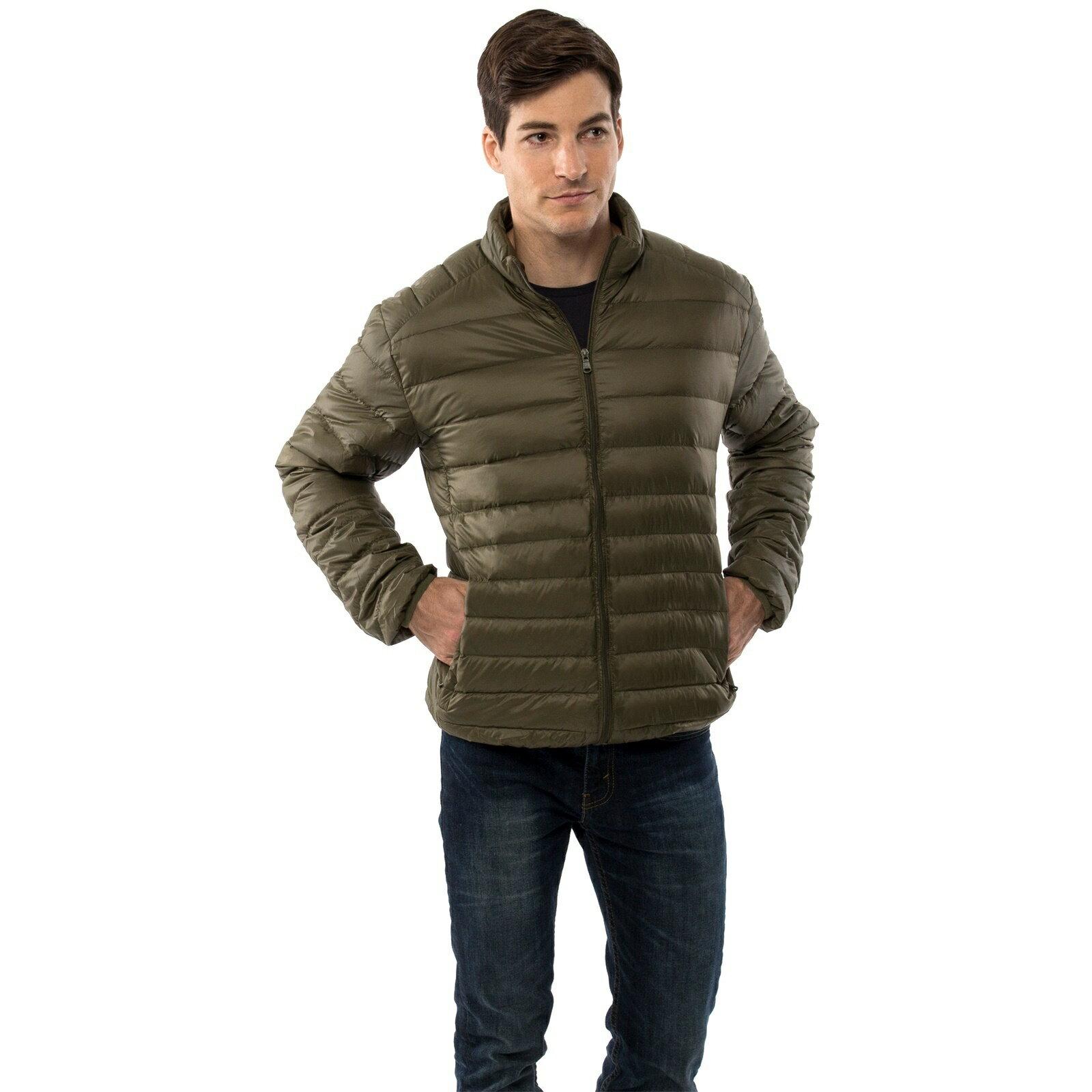 7e3f081e490 Alpine Swiss Niko Men's Down Jacket Puffer Bubble Coat Packable Light Warm  Parka 0