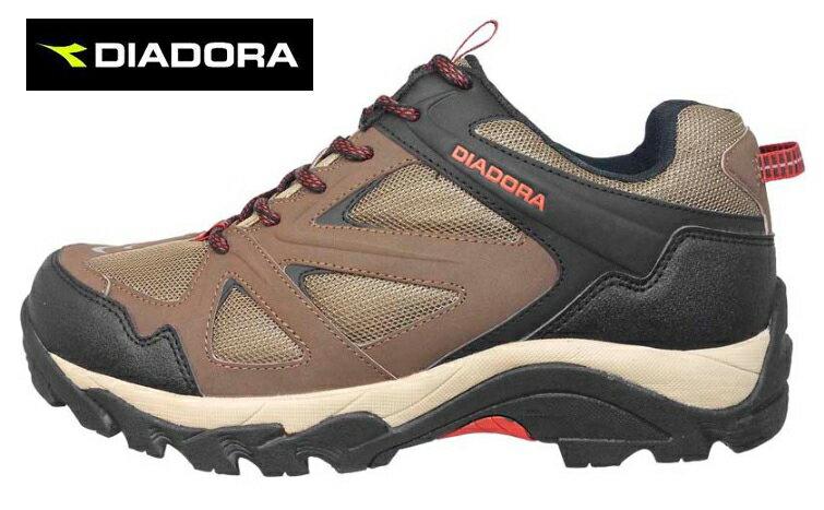 【巷子屋】義大利國寶鞋-DIADORA迪亞多納 男款防潑水寬楦戶外運動鞋 [3711] 咖啡 超值價$899