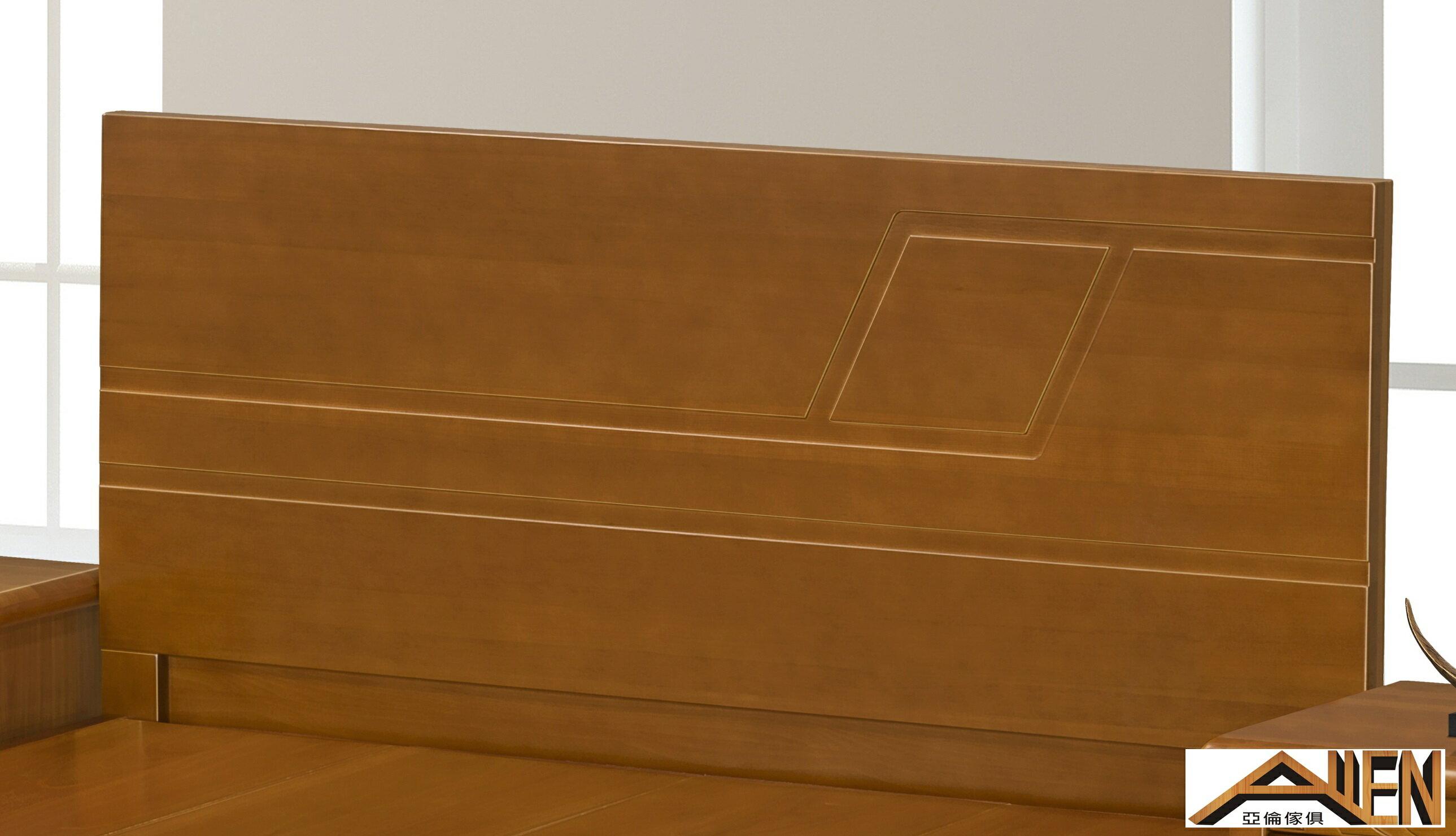 亞倫傢俱*德拉南洋檜全實木5尺雙人床架