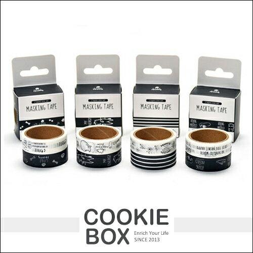 萌寵 可利 和 紙膠帶 2入 組合 隨機出貨 膠帶 精美 材質 黑白 線條 插畫 風格 熊 貓咪 布魯克林 *餅乾盒子*