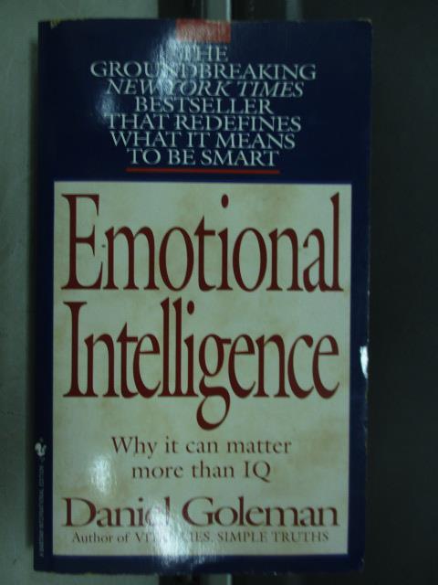 【書寶二手書T2/原文小說_JPJ】Emotional intelligence_Daniel goleman
