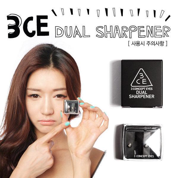 3CE DUAL SHARPENER 雙孔削筆器 眼線筆筆刨