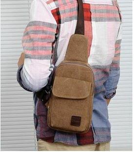 【瞎買天堂x韓流小包】帆布隨身斜背小包 單車包 小巧好攜帶 也可側背!【BGAA0405】