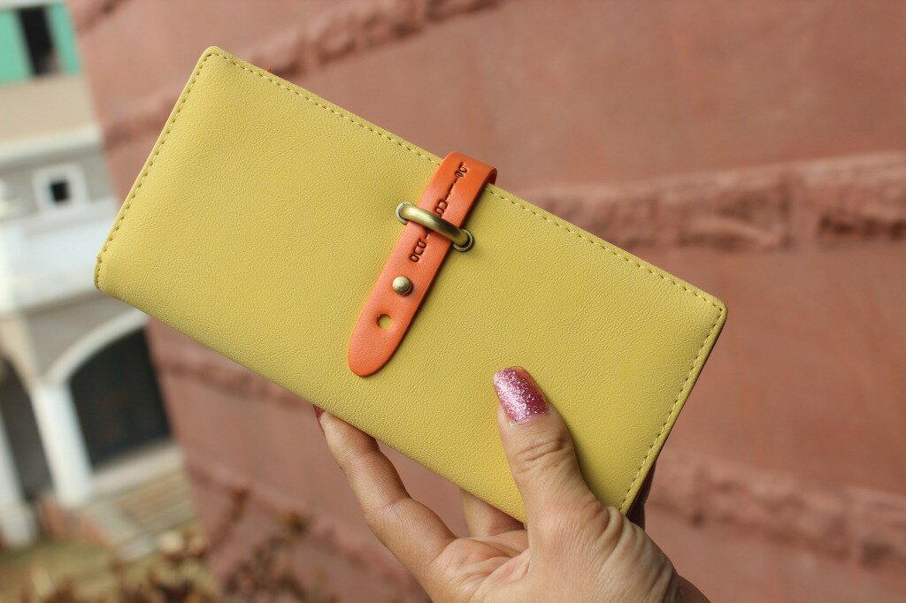 【蕾蒂貓+現貨.預購款】 韓版復古抽帶式 長夾 錢包 **5配色** 【MG00MB02】