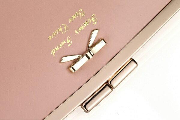 【蕾蒂貓+現貨.預購款】 韓版時尚 可愛金屬蝴蝶結 長夾 錢包 **3色** 【MG00MB04】