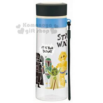 〔小禮堂〕星際大戰 隨身冷水瓶《透明.黑藍.站姿.多角色.380ml》