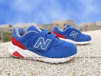 《下殺7折》Shoestw【KV580MKP】NEW BALANCE 580 復古慢跑鞋 童鞋 運動鞋 中童 藍白紅