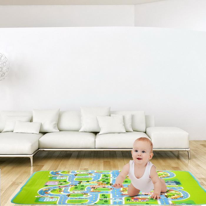 1.6x1.3m Baby Kids Children Play-Mat Picnic Cushion Crawling Mat 0