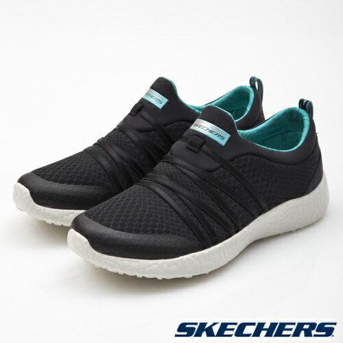 SKECHERS Burst 女鞋 慢跑 休閒 記憶鞋墊 輕量 透氣 黑 【運動世界】 12735BKTQ