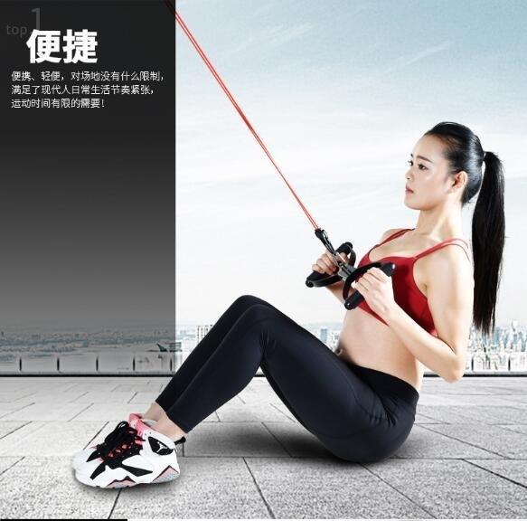女士家用健身力量訓練彈力拉力繩EY1719『小美日記』