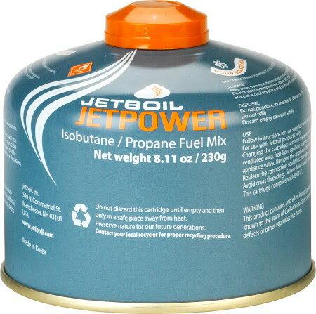 Jetboil ^|美國^| 高效能瓦斯 230g/高山瓦斯罐 露營瓦斯罐/JETPWR~