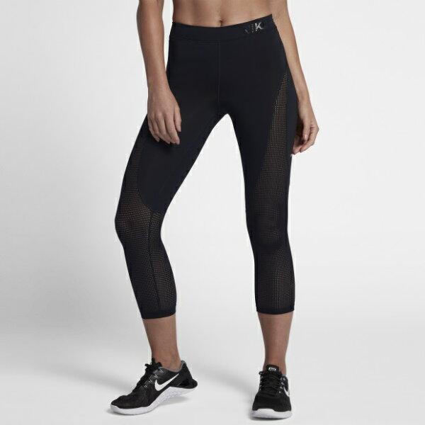 NIKEPROHYPERCOOL女裝長褲七分慢跑訓練緊身舒適黑【運動世界】889652-010
