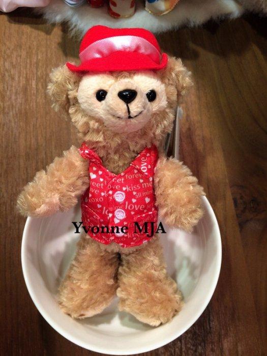 *Yvonne MJA香港代購*香港迪士尼樂園限定正品Duffy達菲熊情人節絕版站姿吊飾