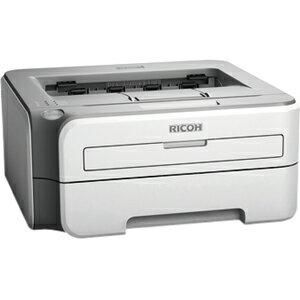 Ricoh Aficio SP 1210N Laser Printer - Monochrome - 2400 x 600 dpi Print - Plain Paper Print - Desktop - 23 ppm Mono Print - 251 sheets Standard Input Capacity - Manual Duplex Print - Ethernet - USB 2