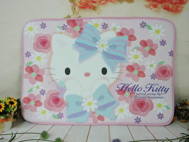~*MY 71*~  絨毛娃娃  HELLO KITTY絨毛地墊-花朵系列 可愛 凱蒂貓 地毯 室內墊 卡通墊 擺飾