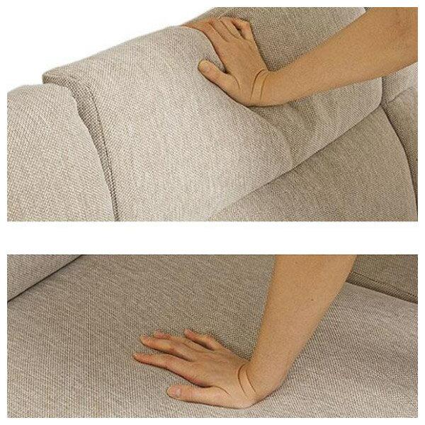 ◎(OUTLET)布質3人用沙發 HILL2 BE / LBR 福利品 NITORI宜得利家居 5