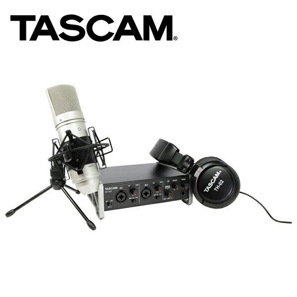 ◎相機專家◎TASCAM達斯冠US-2x2TPUSB錄音介面2x2套裝動態錄音耳機麥克風公司貨