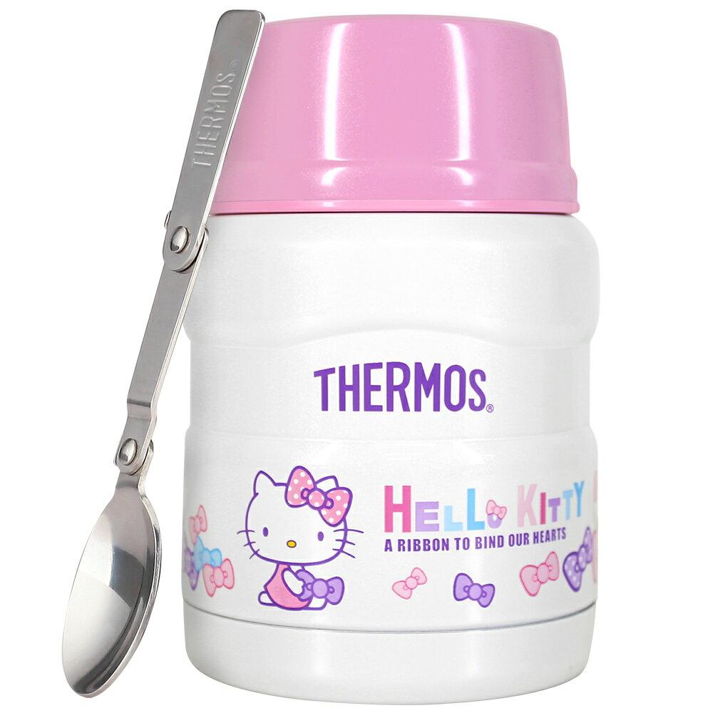THERMOS膳魔師 Hello Kitty不鏽鋼真空食物燜燒罐/食物罐470ml-蝴蝶結篇【SK3000KT】(MF0121RB)