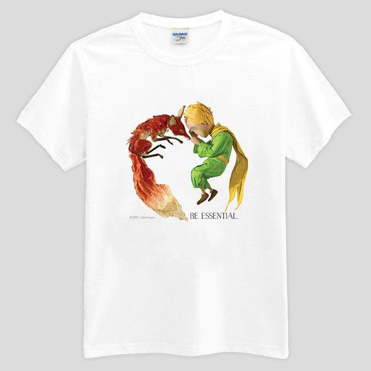 小王子電影版 ~ T恤:~ 愛的連結 ~短袖修身 T~shirt   白   粉紅   水