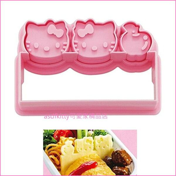 asdfkitty可愛家☆KITTY食物隔板壓模起司壓模火腿壓模蛋皮壓模-日本製