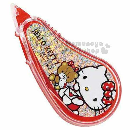 〔小禮堂〕Kitty 迷你立可帶《紅.側坐拿信封.小熊.閃亮亮》輕巧修正帶