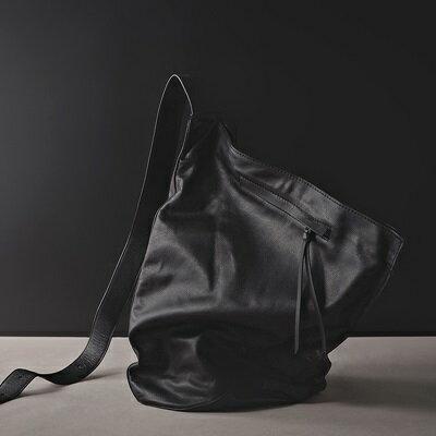 肩背包真皮斜背包-黑色簡約休閒牛皮男包包73ut23【獨家進口】【米蘭精品】 2