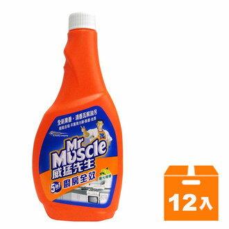 威猛先生 5in1廚房全效清潔劑 重裝瓶-陽光檸檬 500g (12入)/箱