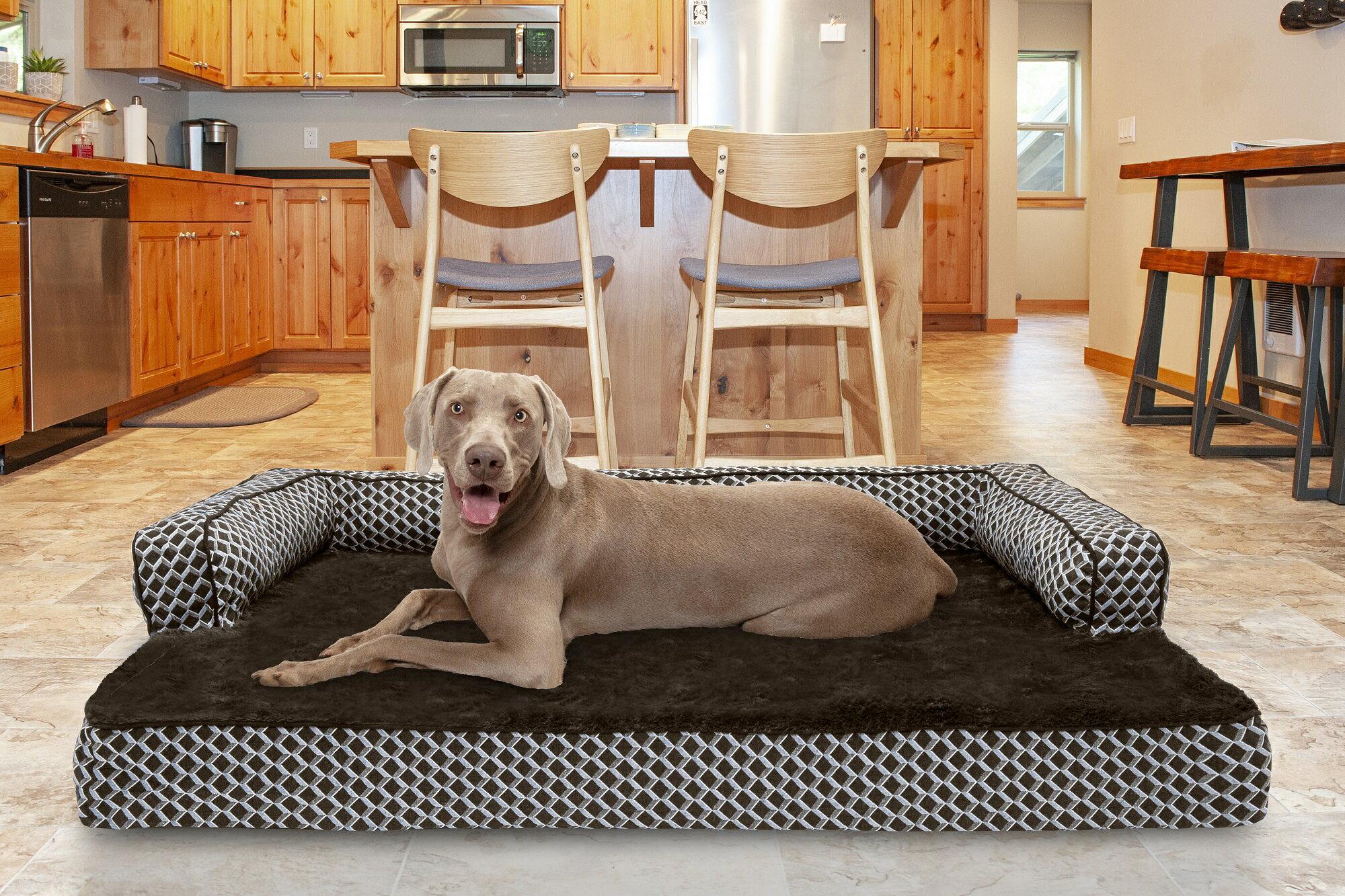 FurHaven™ Pet Products: FurHaven Pet Dog Bed   Two-Tone Faux