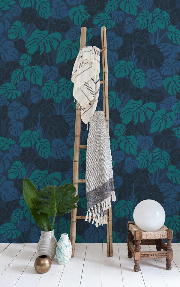 Aimee Wilder / Bungalow Collection Deliciosa moonlight 壁紙 (訂貨單位71.1cm×9m/卷)