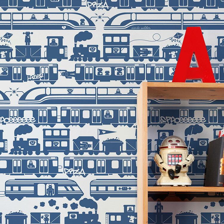 Aimee Wilder / JOURNEY Collection Robo Rail atlantic 壁紙 (訂貨單位68.8cm×9m/卷)
