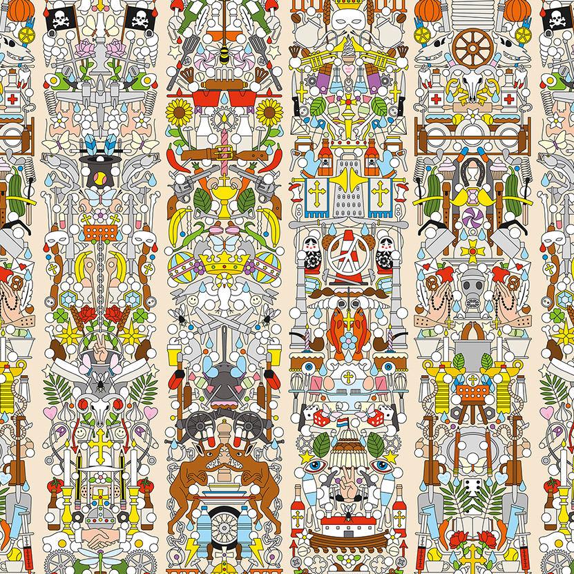 Archives Wallpaper by Studio Job / Alt Deutsch (JOB-04) 壁紙 (訂貨單位48.7cm×9m/卷)