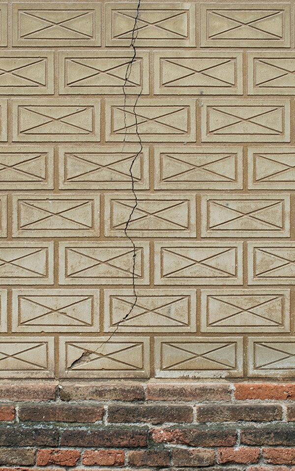 bloompapers / Random Papers Wall Cracked brick  壁紙 「訂貨單位3.72m x 2.7m/套(一套八張壁板)」