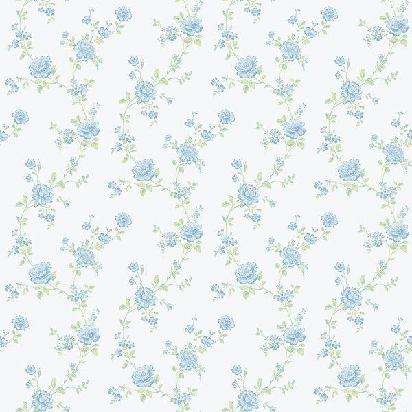 女孩房花草紋藍色BloOmpapers西班牙AnneDahliaAzul6270103