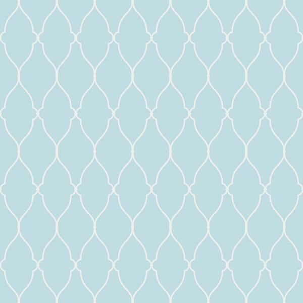 藍色幾何形圖案BloOmpapers西班牙AnneHederaAzul6270304